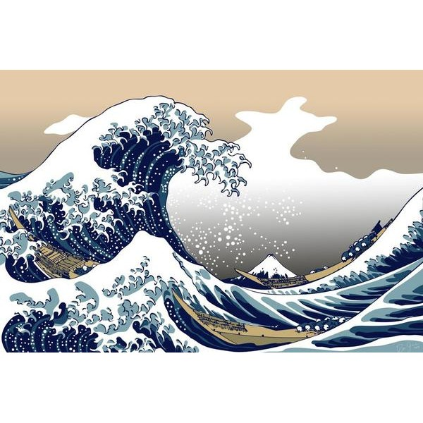 The Great Wave Off Kanagawa - Ships From US